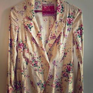 Free people beautiful floral print button blazer